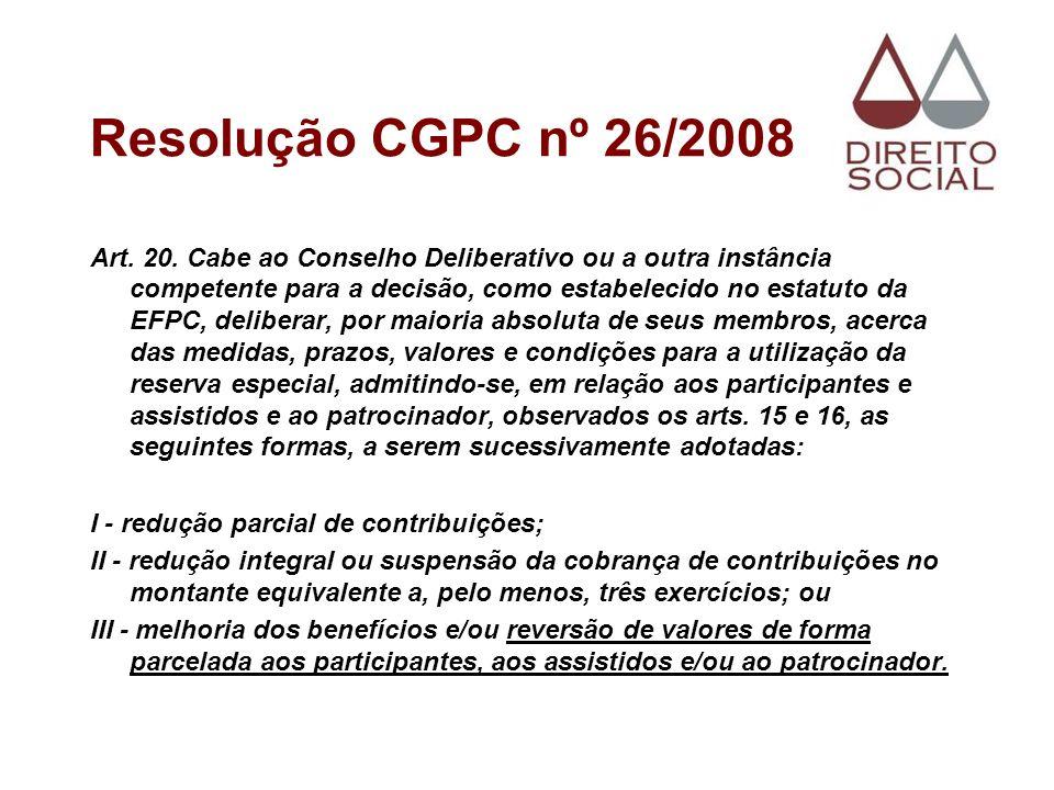 Resolução CGPC nº 26/2008