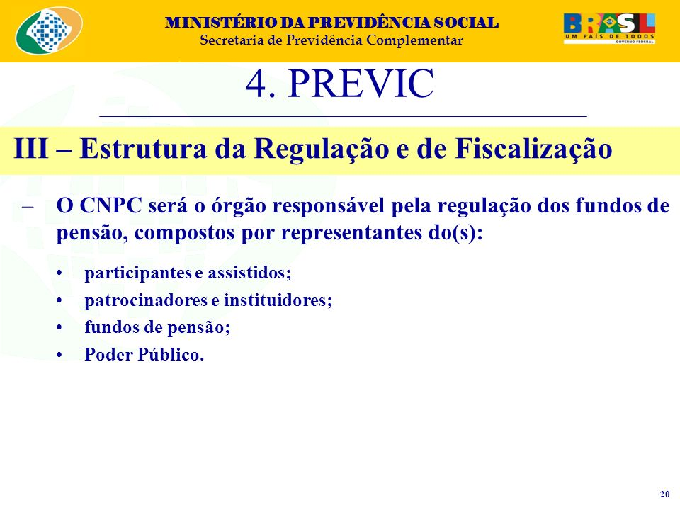 III – Estrutura da Regulação e de Fiscalização