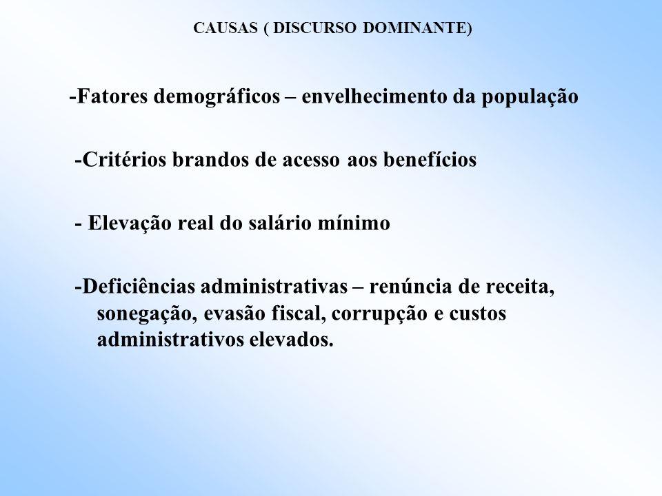 CAUSAS ( DISCURSO DOMINANTE)