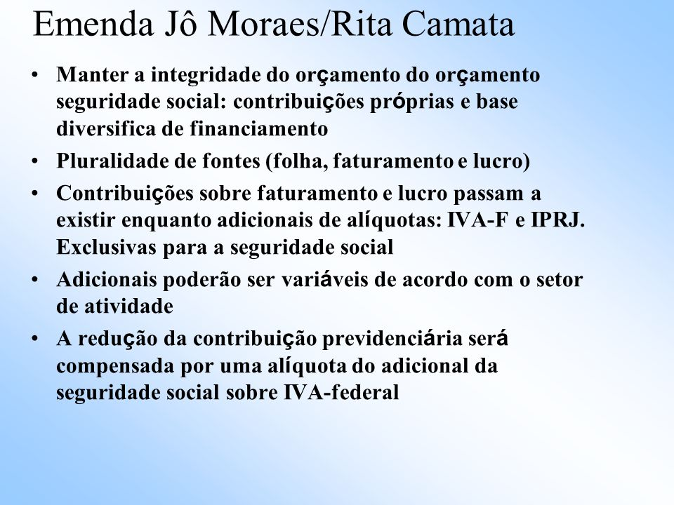 Emenda Jô Moraes/Rita Camata