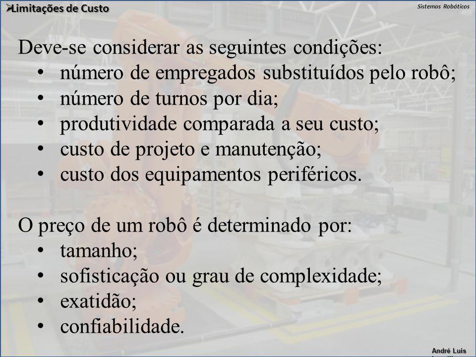 Deve-se considerar as seguintes condições: