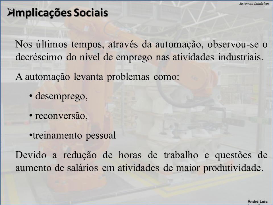 Implicações Sociais Nos últimos tempos, através da automação, observou-se o decréscimo do nível de emprego nas atividades industriais.