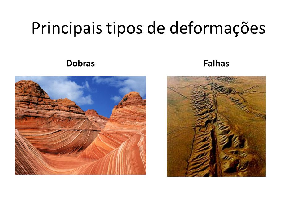 Principais tipos de deformações