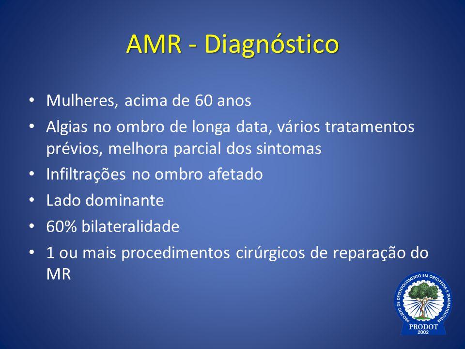 AMR - Diagnóstico Mulheres, acima de 60 anos