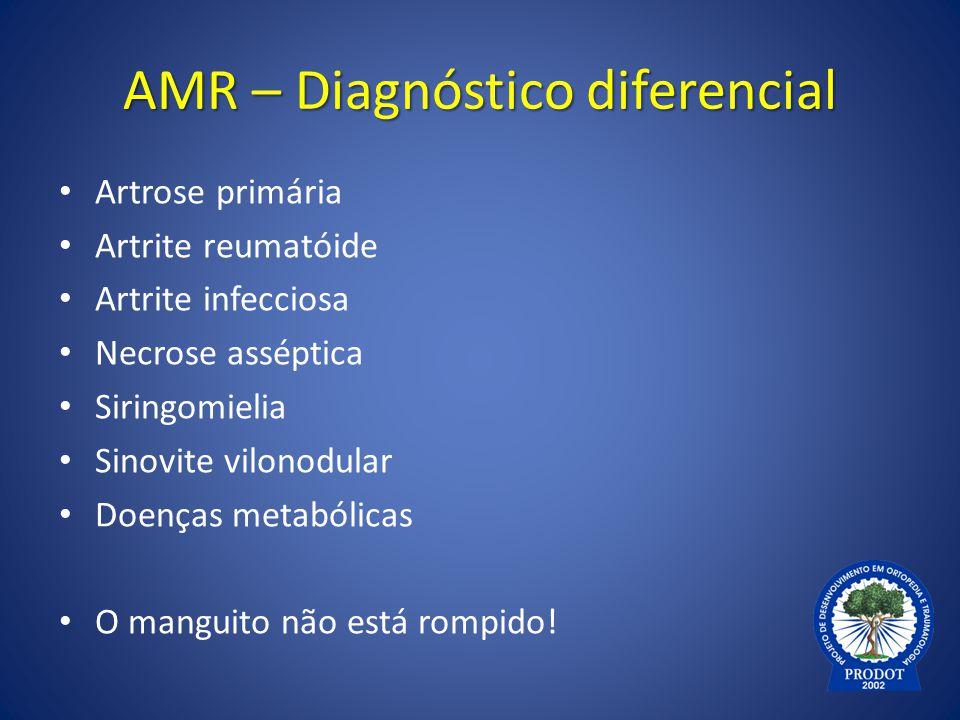AMR – Diagnóstico diferencial
