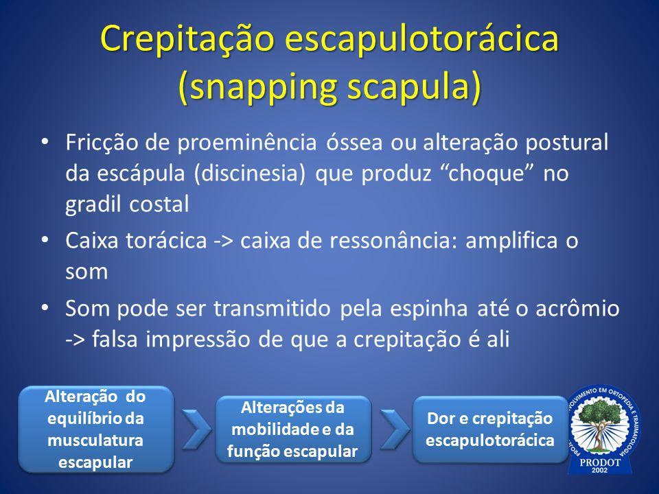 Crepitação escapulotorácica (snapping scapula)