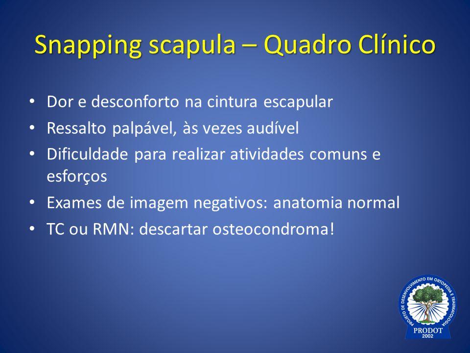 Snapping scapula – Quadro Clínico