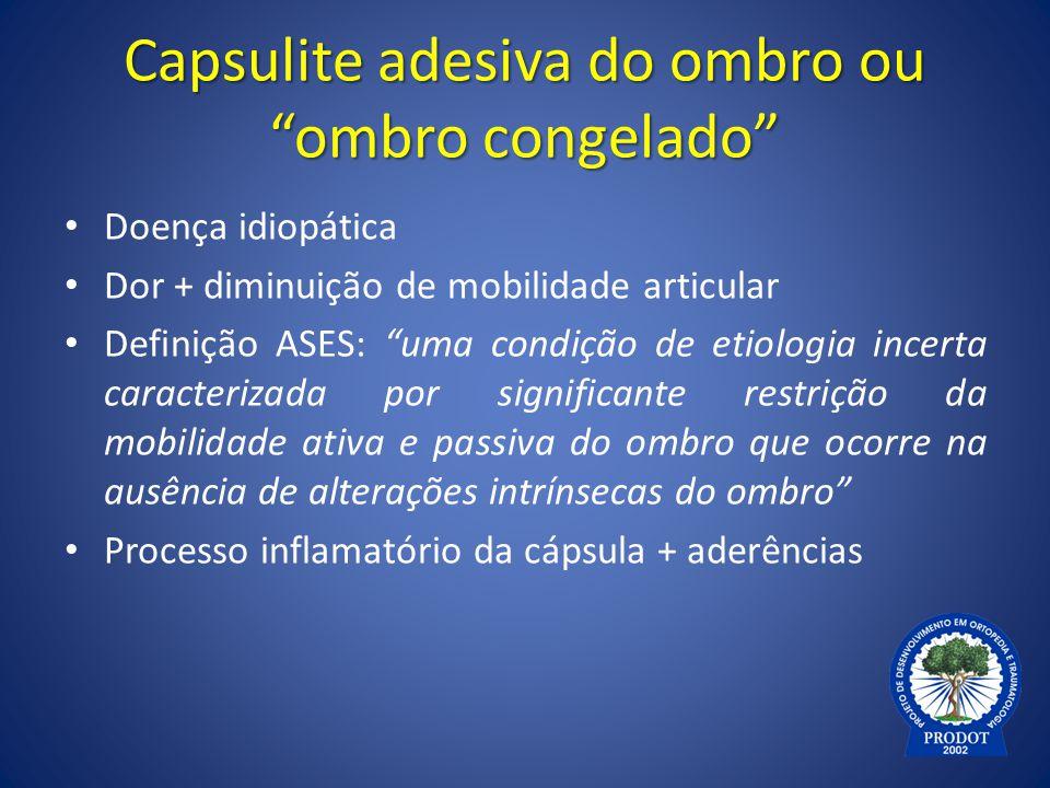 Capsulite adesiva do ombro ou ombro congelado