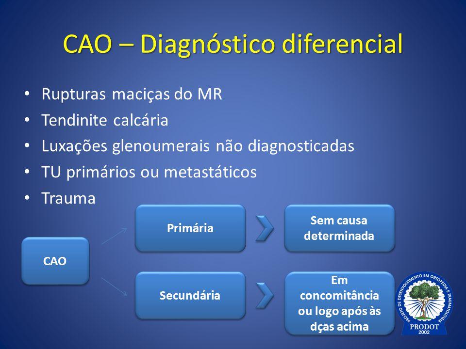 CAO – Diagnóstico diferencial