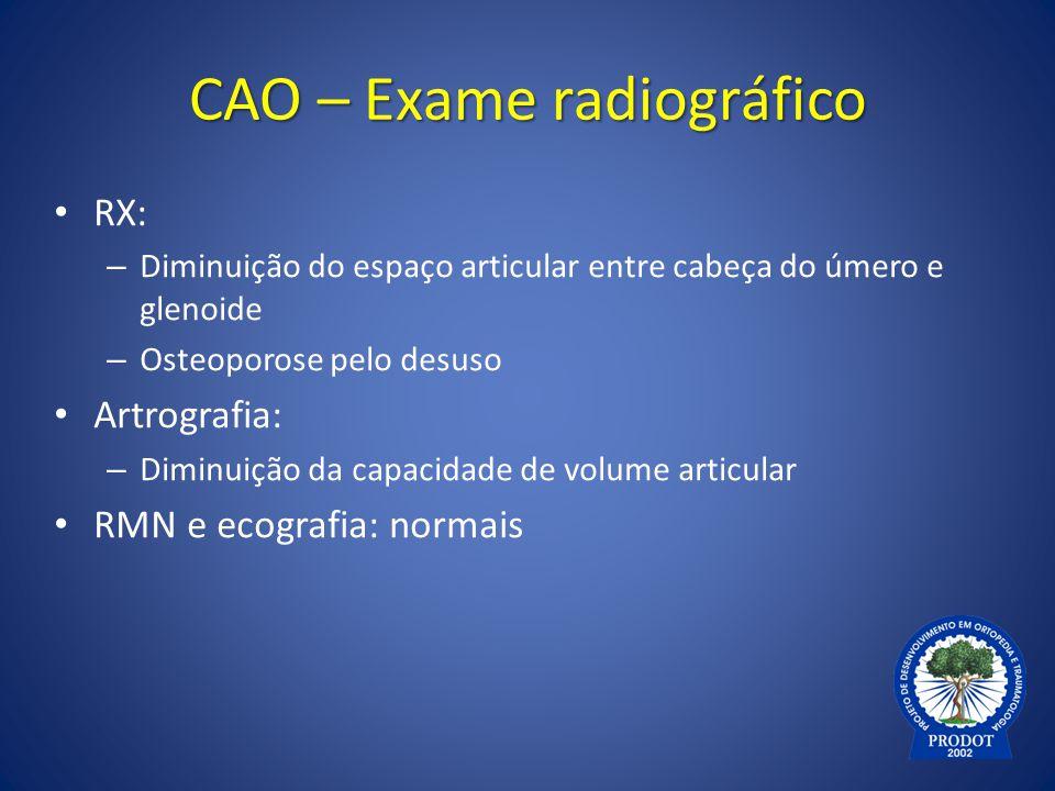 CAO – Exame radiográfico