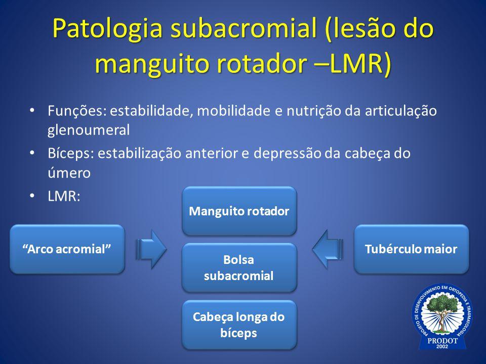 Patologia subacromial (lesão do manguito rotador –LMR)