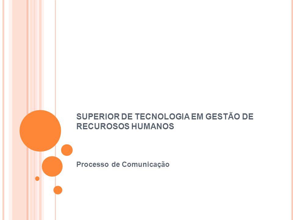 SUPERIOR DE TECNOLOGIA EM GESTÃO DE RECUROSOS HUMANOS