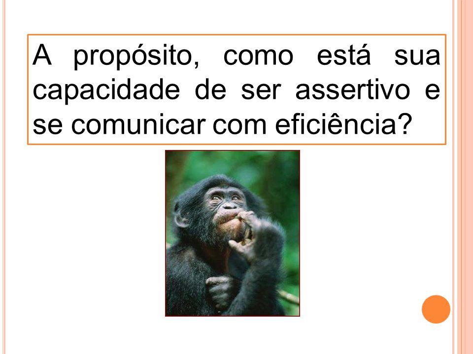 A propósito, como está sua capacidade de ser assertivo e se comunicar com eficiência