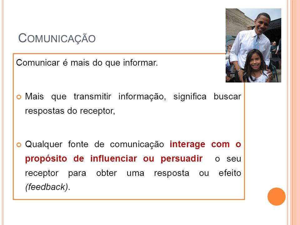 Comunicação Comunicar é mais do que informar.