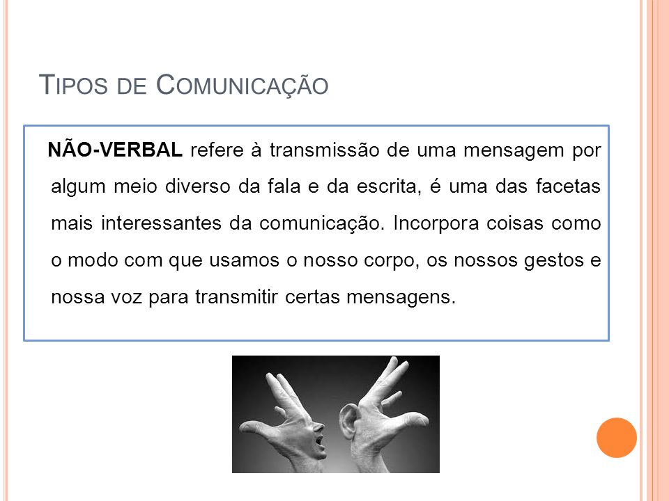 Tipos de Comunicação