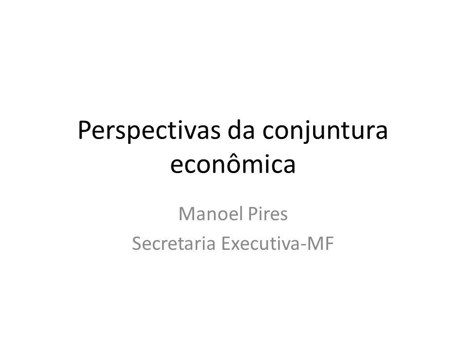 Perspectivas da conjuntura econômica