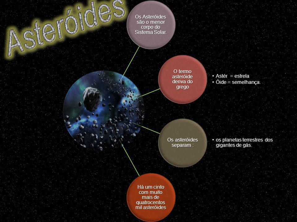 Asteróides Os Asteróides são o menor corpo do Sistema Solar.