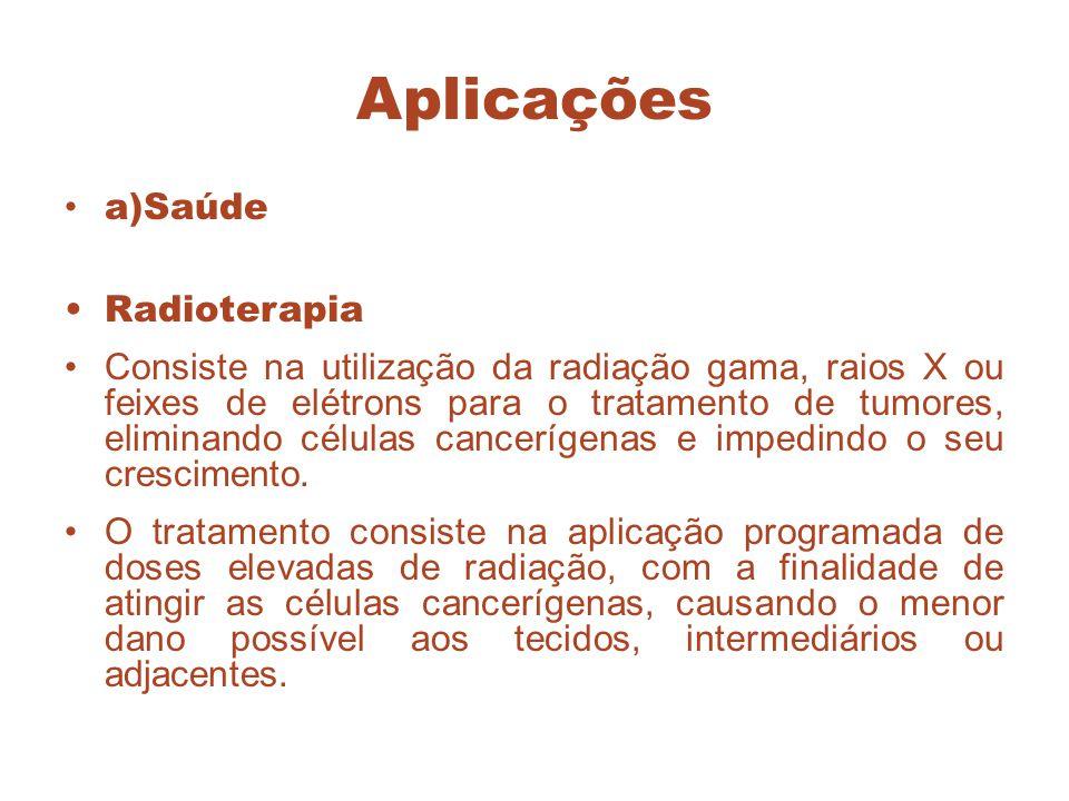 Aplicações a)Saúde Radioterapia