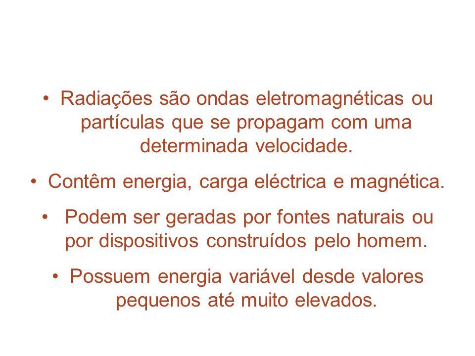 Contêm energia, carga eléctrica e magnética.