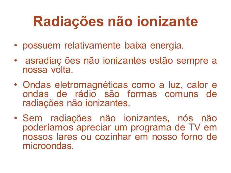 Radiações não ionizante