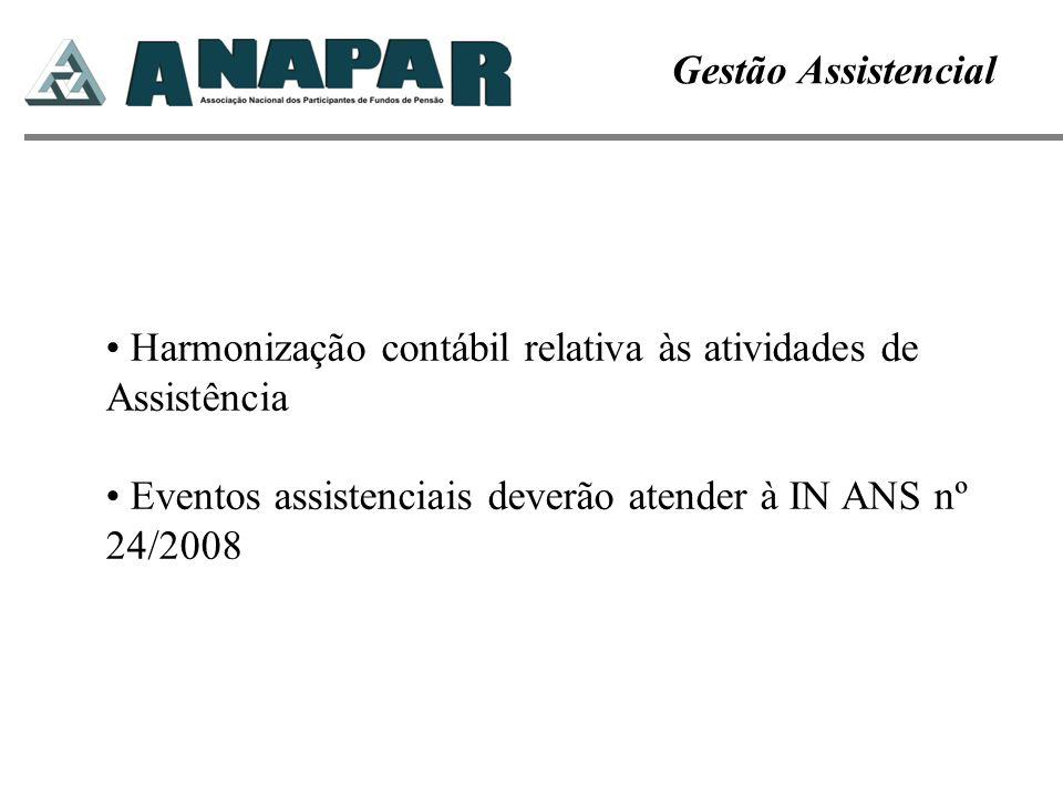Gestão Assistencial Harmonização contábil relativa às atividades de Assistência.