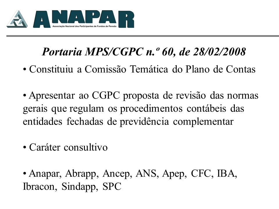Portaria MPS/CGPC n.º 60, de 28/02/2008