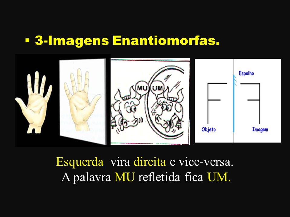 3-Imagens Enantiomorfas.