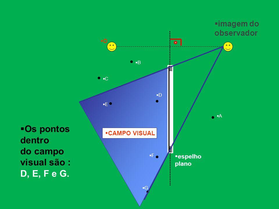 do campo visual são : D, E, F e G.