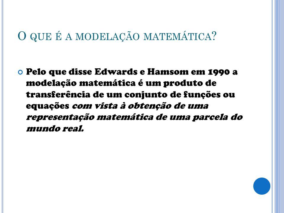 O que é a modelação matemática