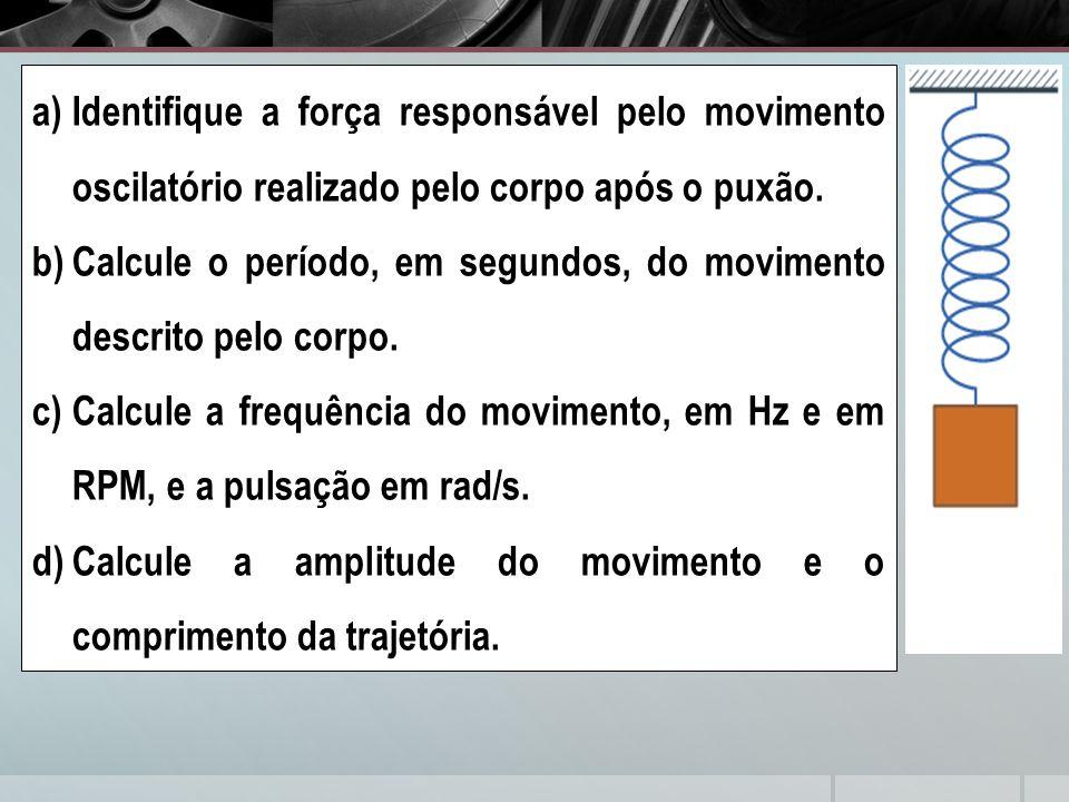 Identifique a força responsável pelo movimento oscilatório realizado pelo corpo após o puxão.