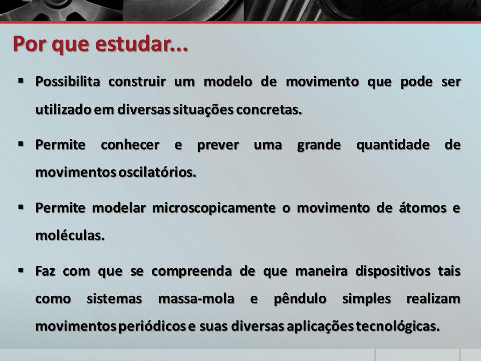 Por que estudar... Possibilita construir um modelo de movimento que pode ser utilizado em diversas situações concretas.