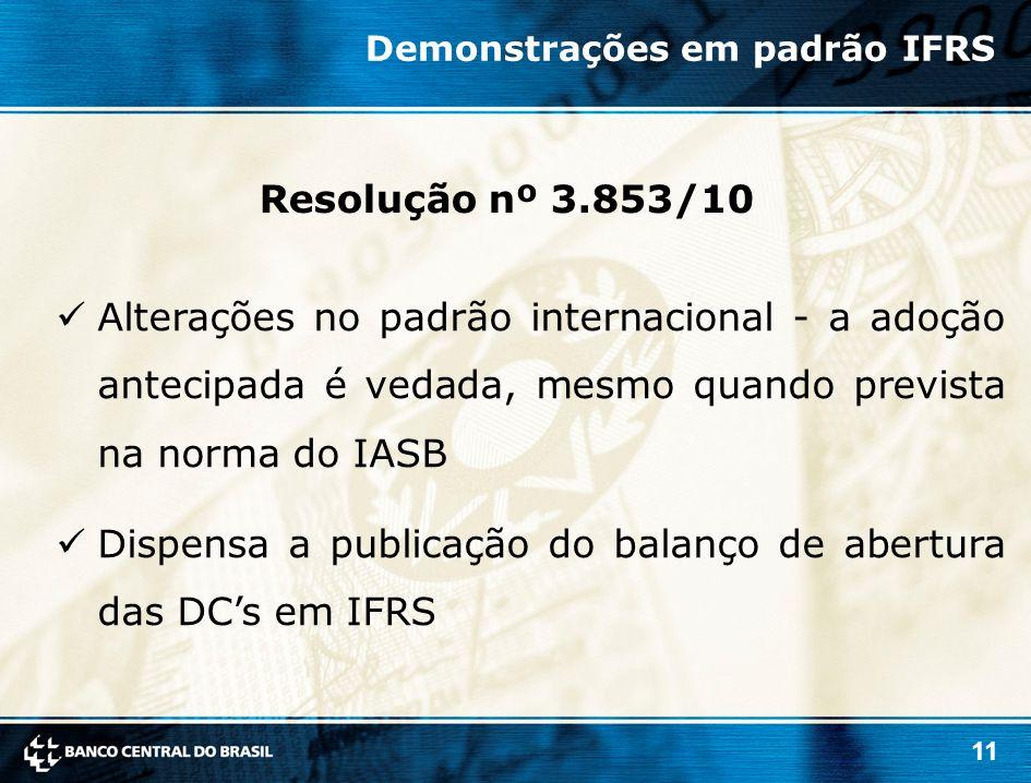 Dispensa a publicação do balanço de abertura das DC's em IFRS