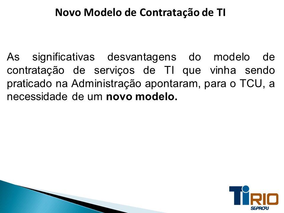 Novo Modelo de Contratação de TI