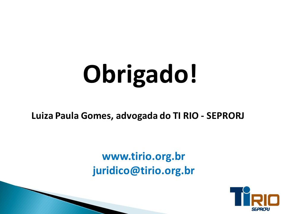 Luiza Paula Gomes, advogada do TI RIO - SEPRORJ