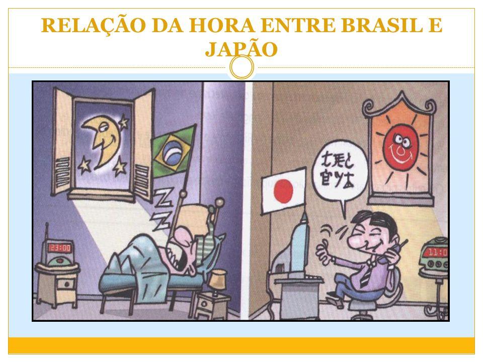 RELAÇÃO DA HORA ENTRE BRASIL E JAPÃO
