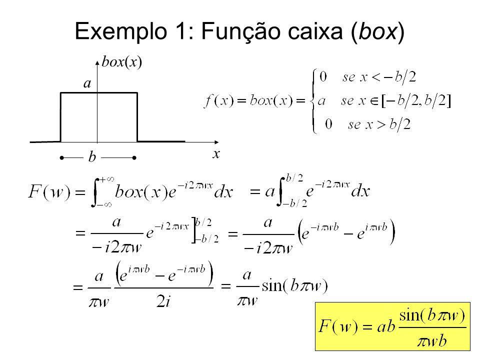 Exemplo 1: Função caixa (box)