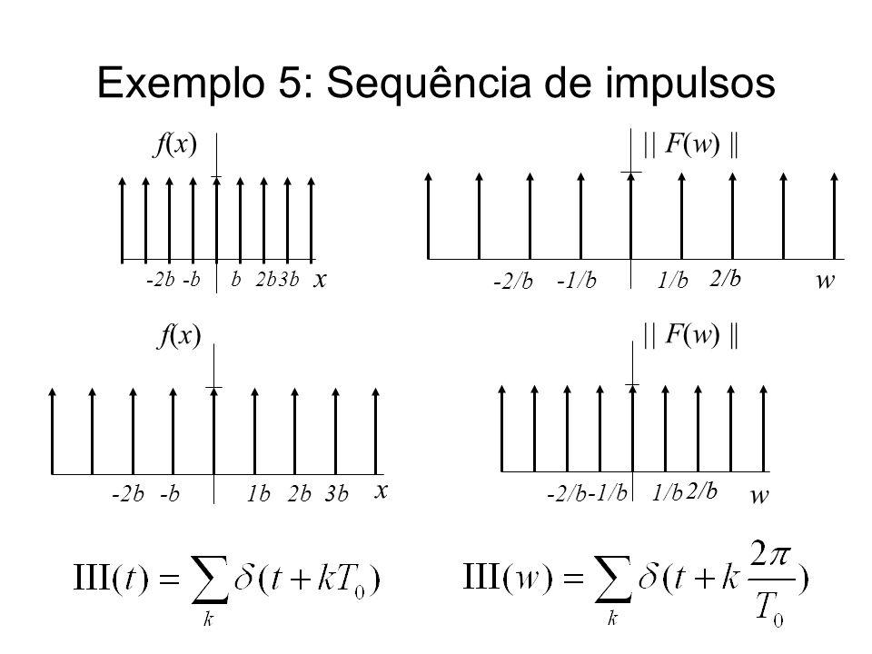 Exemplo 5: Sequência de impulsos
