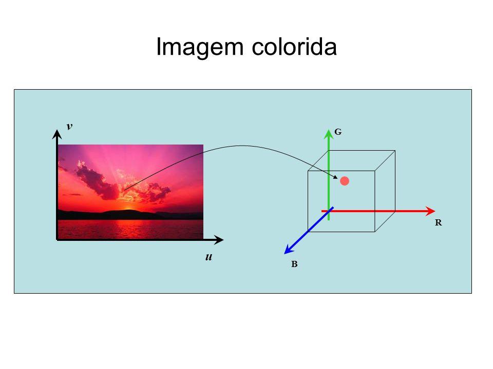 Imagem colorida u v G R B