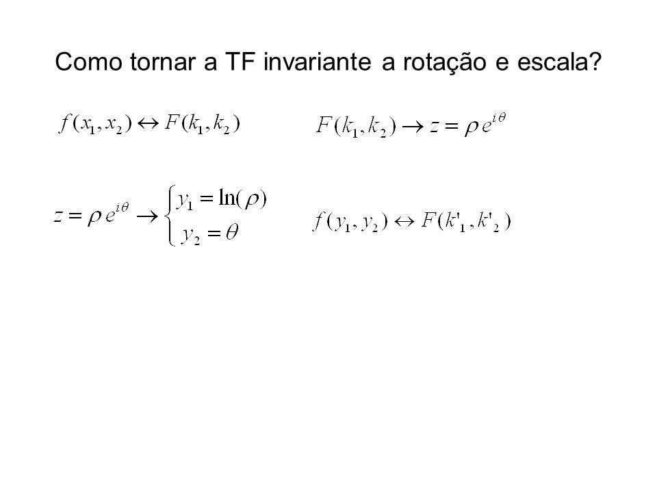Como tornar a TF invariante a rotação e escala