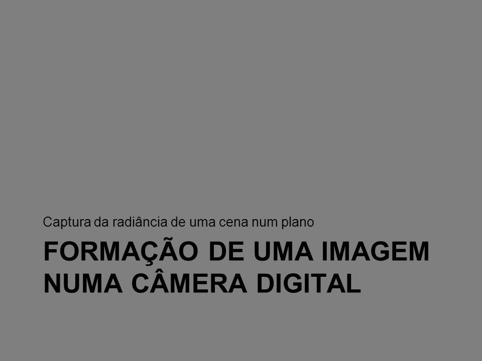 Formação de uma imagem numa câmera digital