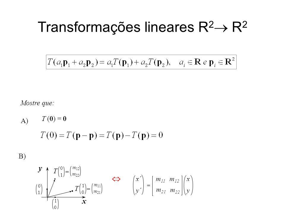 Transformações lineares R2 R2