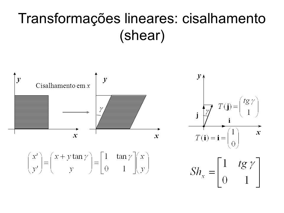 Transformações lineares: cisalhamento (shear)