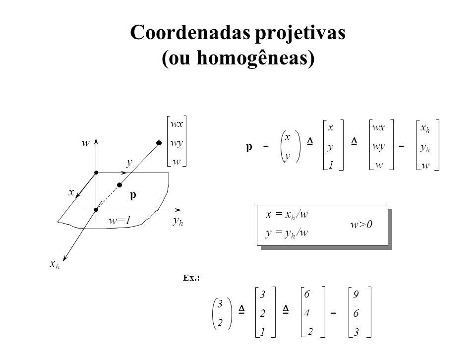 Coordenadas projetivas (ou homogêneas)
