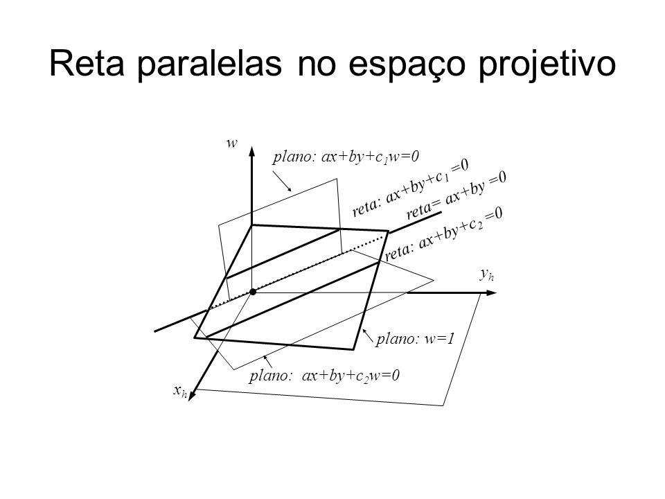 Reta paralelas no espaço projetivo