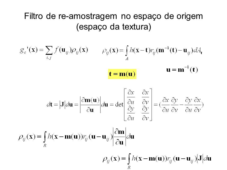 Filtro de re-amostragem no espaço de origem (espaço da textura)