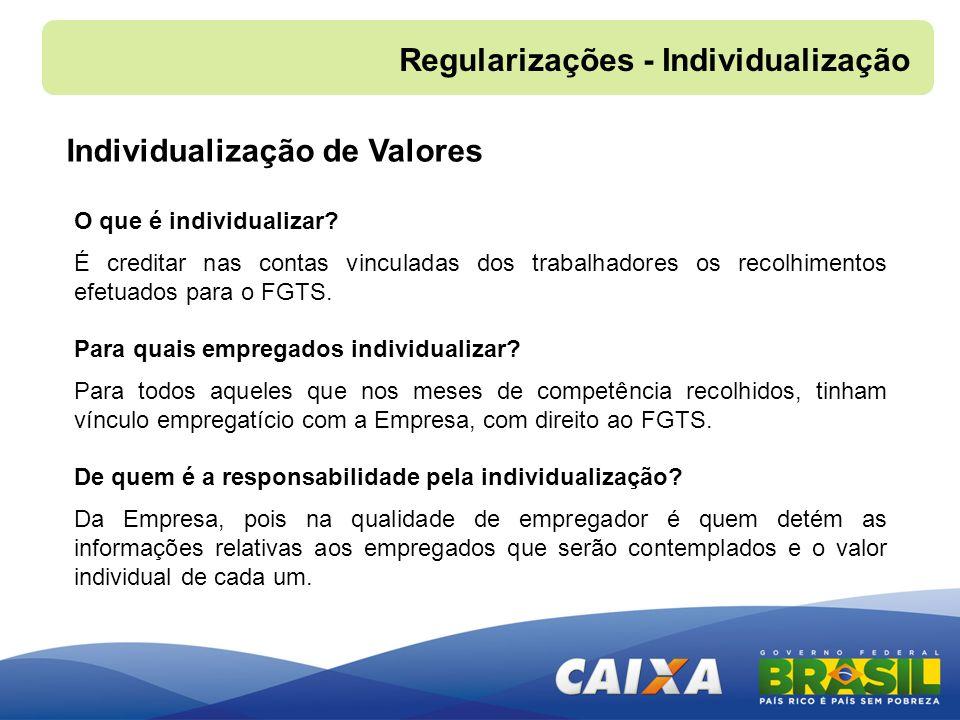 Regularizações - Individualização