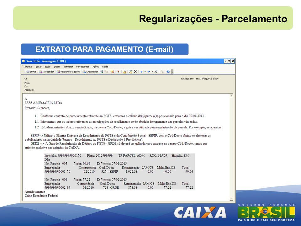 EXTRATO PARA PAGAMENTO (E-mail)