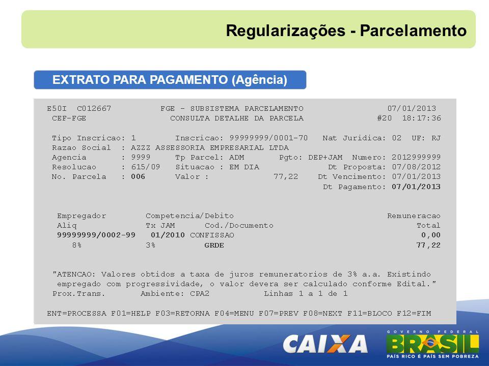 EXTRATO PARA PAGAMENTO (Agência)