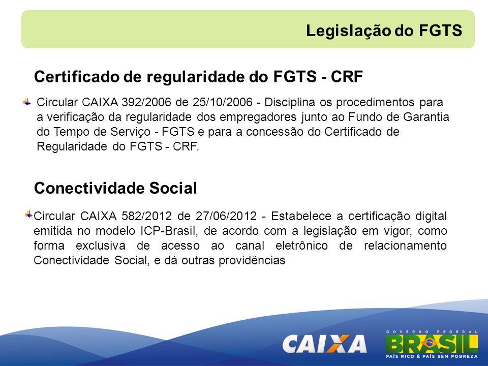 Certificado de regularidade do FGTS - CRF