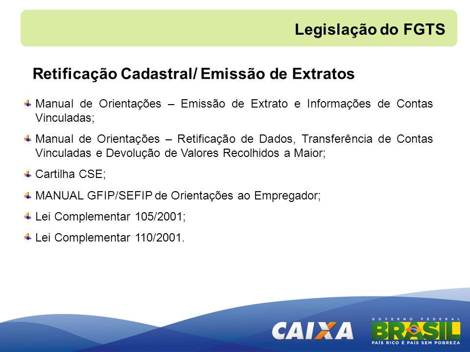Retificação Cadastral/ Emissão de Extratos